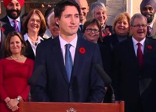 Casi dos tercios de los canadienses aprueban el gobierno de Trudeau