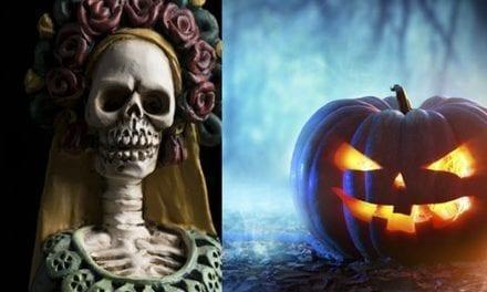 Halloween 'convive' con el Día de los Muertos