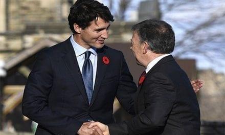 Trudeau y Santos reafirman el buen momento de las relaciones Canadá-Colombia