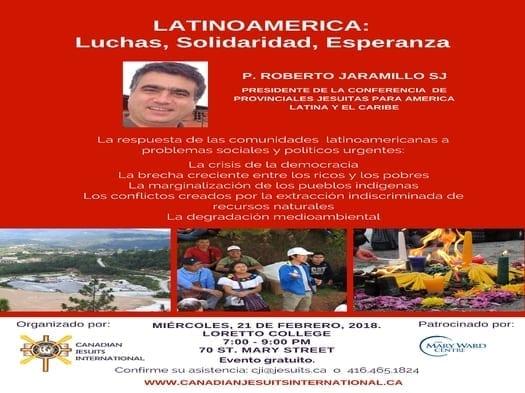 """Invitan a conferencia social sobre Latinoamérica en Toronto: """"Luchas, Solidaridad y Esperanza"""""""