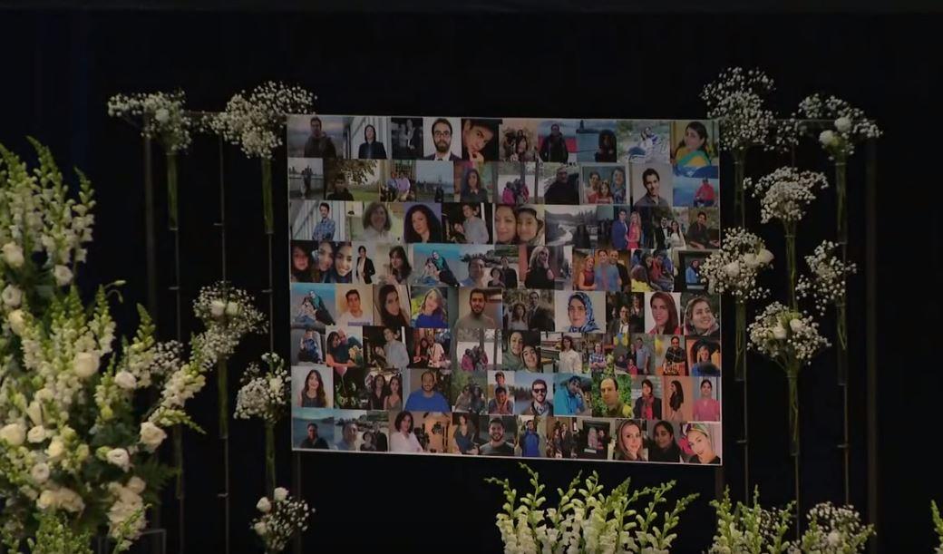 Toronto le rindió honor hoy a las víctimas del vuelo de Ukraine Airlines