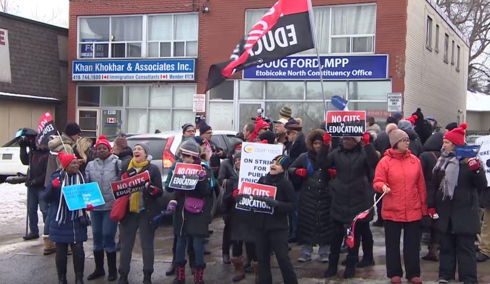 Esta semana inició la segunda huelga masiva de las escuelas primarias de Ontario