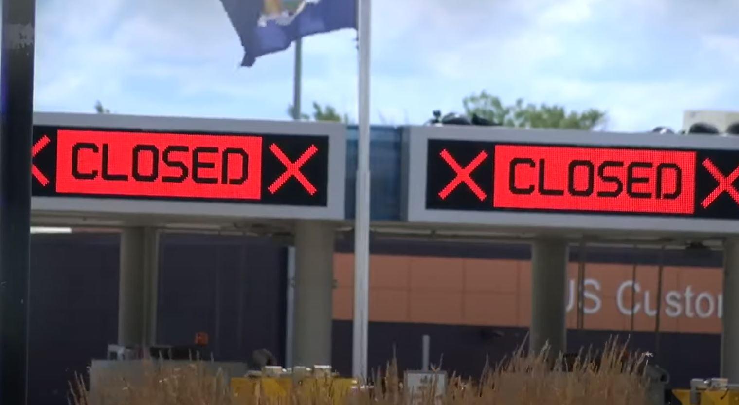 La frontera con los Estados Unidos permanecerá cerrada hasta el 21 de septiembre