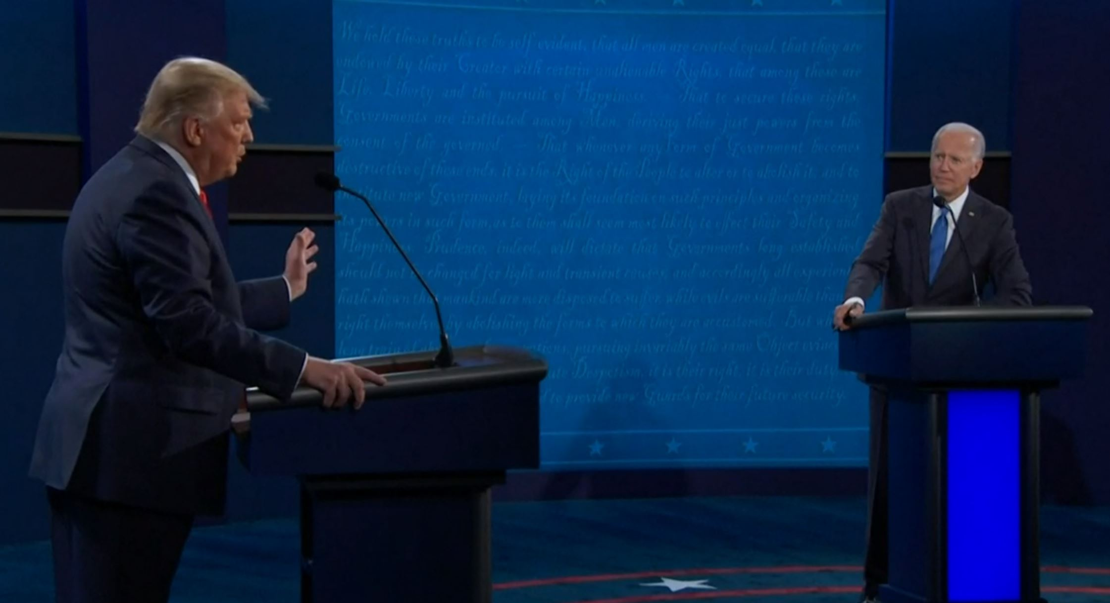 El debate presidencial entre Trump y Biden se llevó a cabo de manera más mesurada